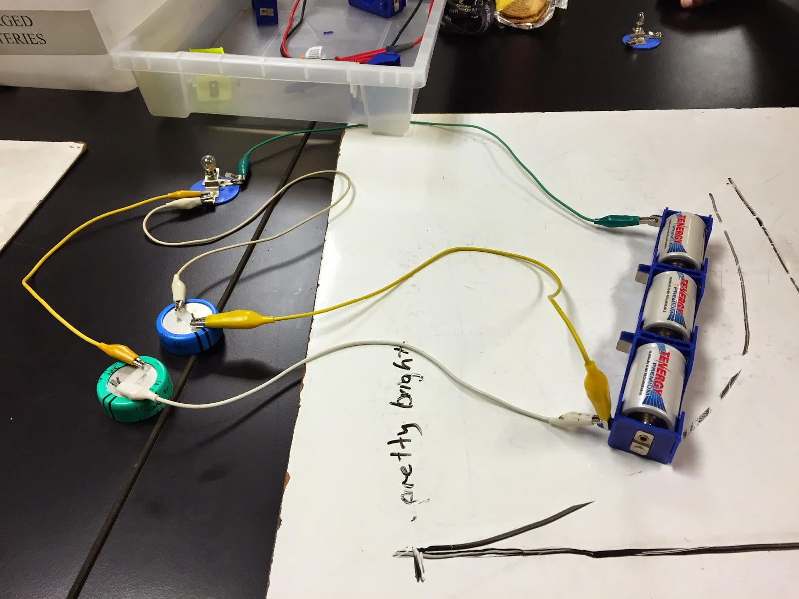 Physics 4b Rjespinoza Rc Circuits And Capacitors 4 30 2015 Resistors In A Circuit Capacitor We Also Created With Parallel To Observe What Happens This Case Realized Is That The Bulb Took Nearly Twice As Long