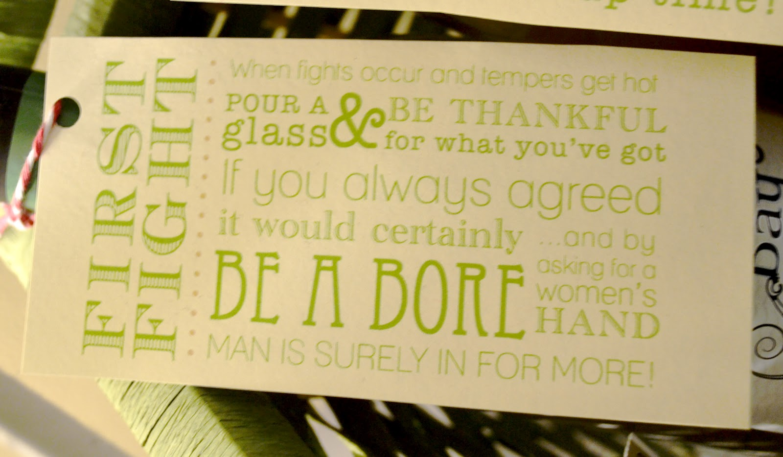 Wedding Gift Wine Bottle Poems : Bridal Shower Ideas - Weddingbee