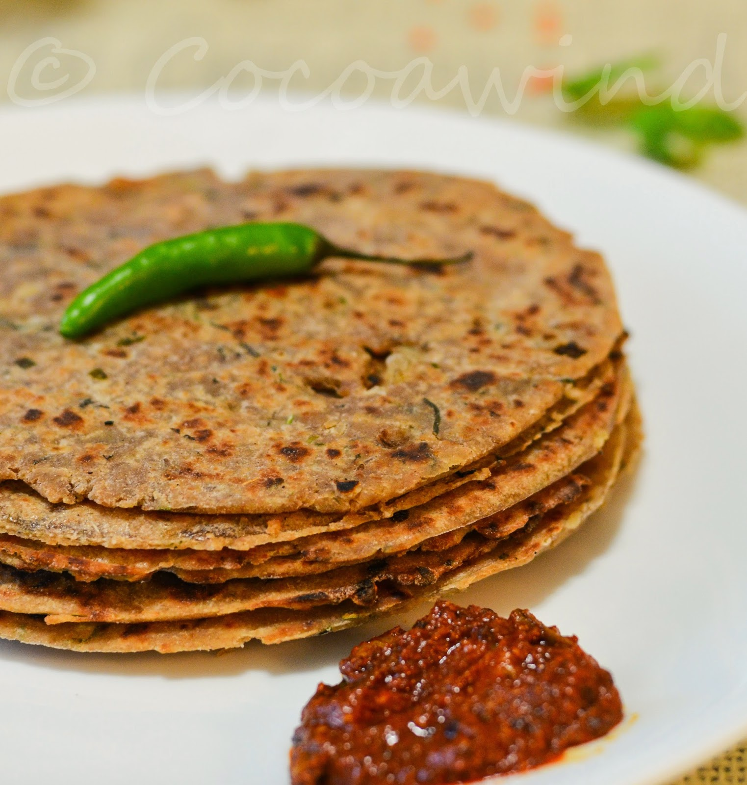 Whole-wheat Masoor Daal Paratha