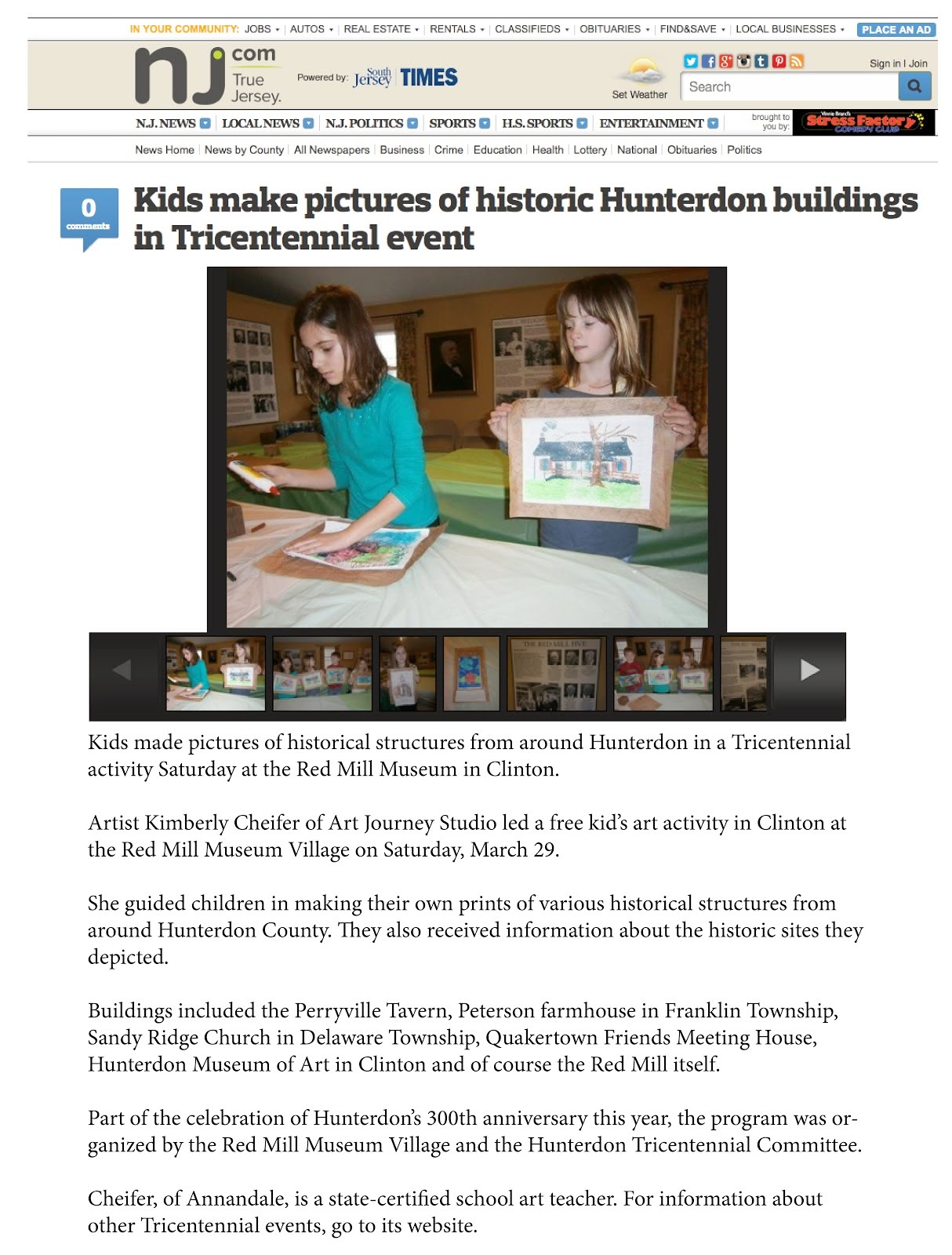 Historic Hunterdon Printmaking