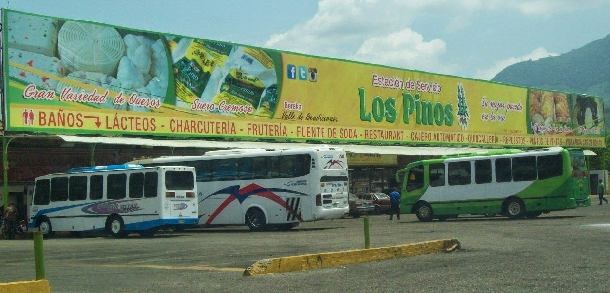 """ESTACION DE SERVICIOS """"LOS PINOS,C.A ..EN QUESOS DE TODO.. CARRETERA LARA ZULIA VENEZUELA."""