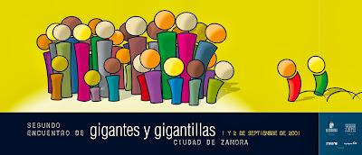 segundo encuentro gigante y gigantillas. Zamora 2001