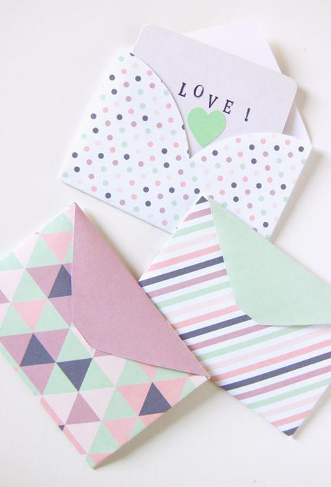 Heart Trio Envelopes - Zu Blog