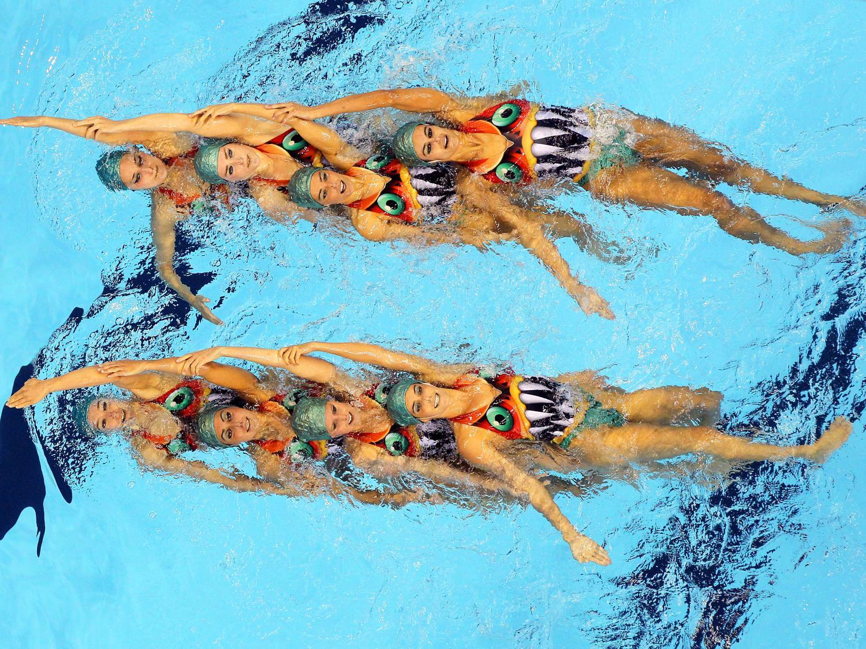 Макияж синхронное плавание фото