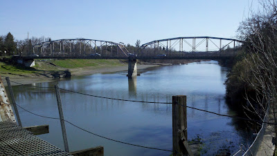 View of Russian river in Healdsburg.