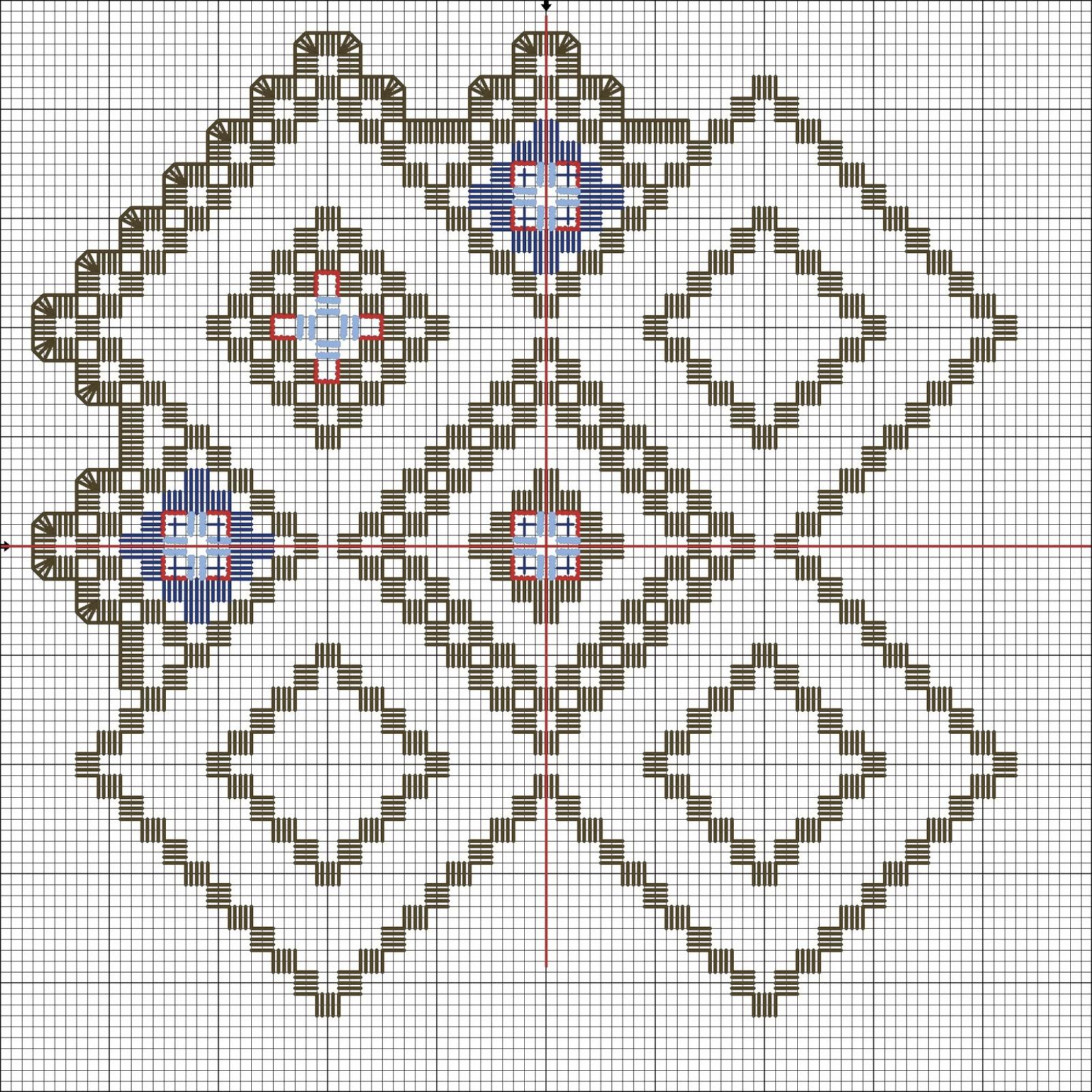 Вышивка в стиле барджелло схемы 36