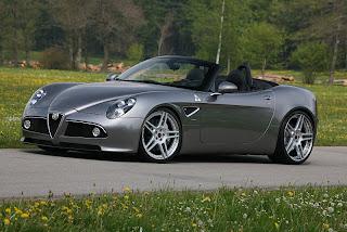 2011 Novitec Rosso Alfa Romeo 8C Spider adopting the Supercharges system