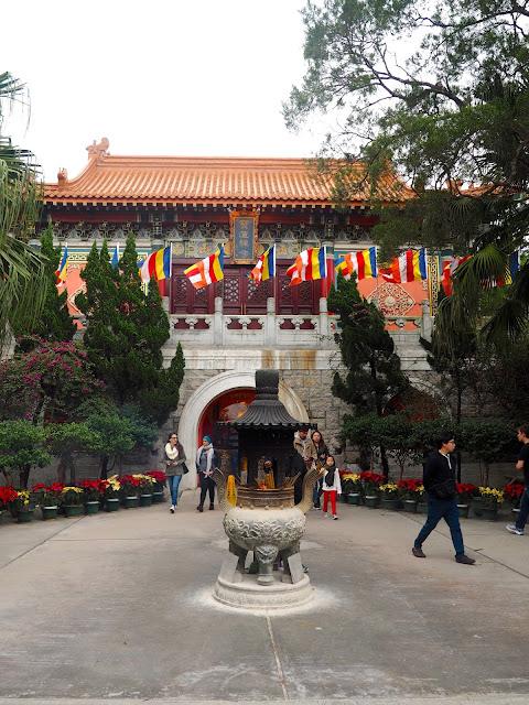 Exterior entrance to Po Lin Monastery, Ngong Ping, Lantau Island, Hong Kong