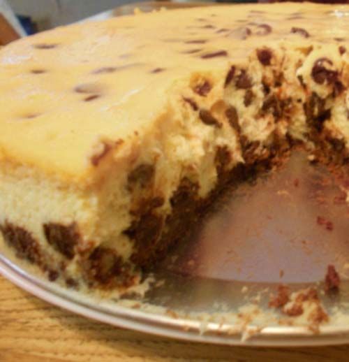 Delicious Chocolate Chip Cheesecake