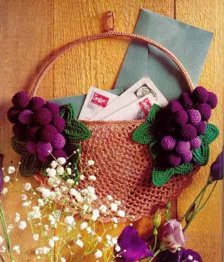 Вязаное панно для записок или