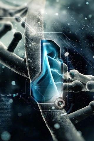 DNA Trend 3D Iphone Wallpaper