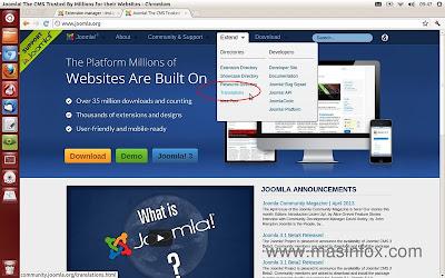 Acesse o site oficial do Joomla