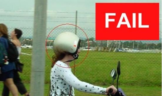 Epic Woman's Helmet FAIL
