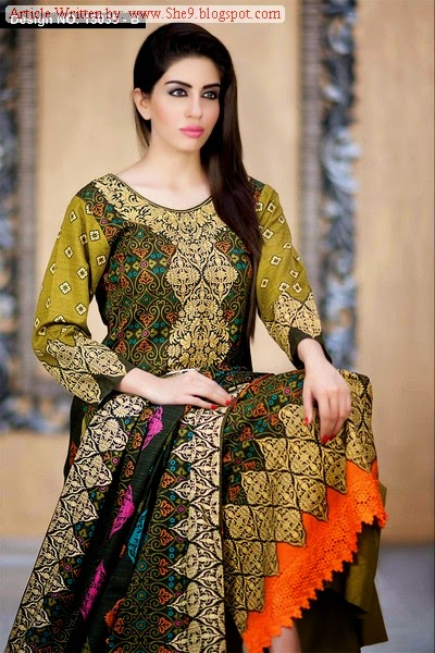 Classic Khaddar Dress Collection 2014-15