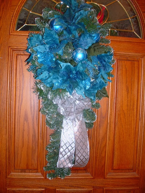 https://www.etsy.com/listing/171482761/turquoise-door-wreath-teal-blue-holiday