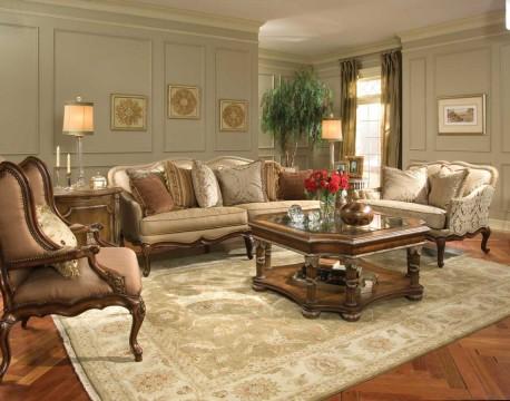 ruang tamu mewah gaya victorian   minimalist-id