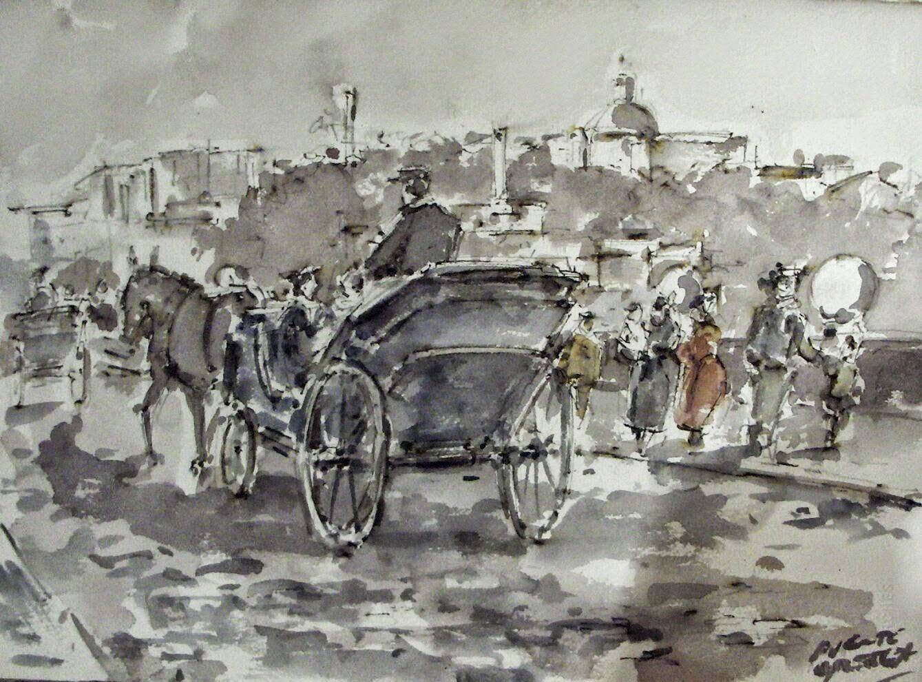 Acuarela Carlos Puente Ortega