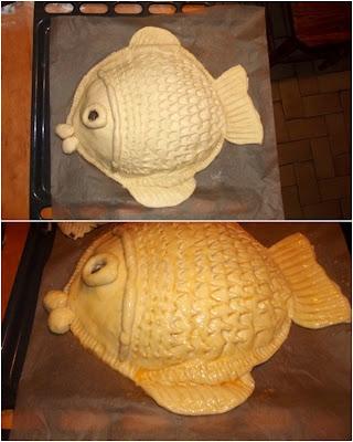 Ryba w cieście drożdżowym