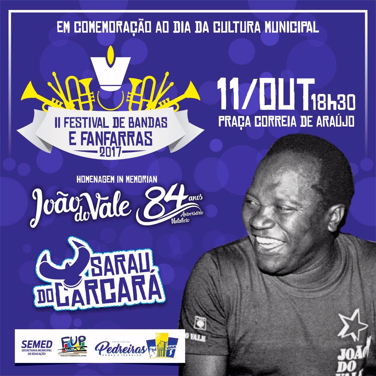 II FESTIVAL DE BANDAS E FANFARRAS
