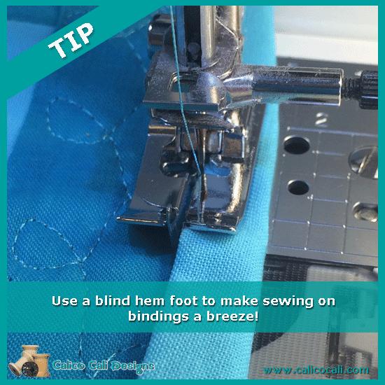 Tuesday Tip - quilt binding