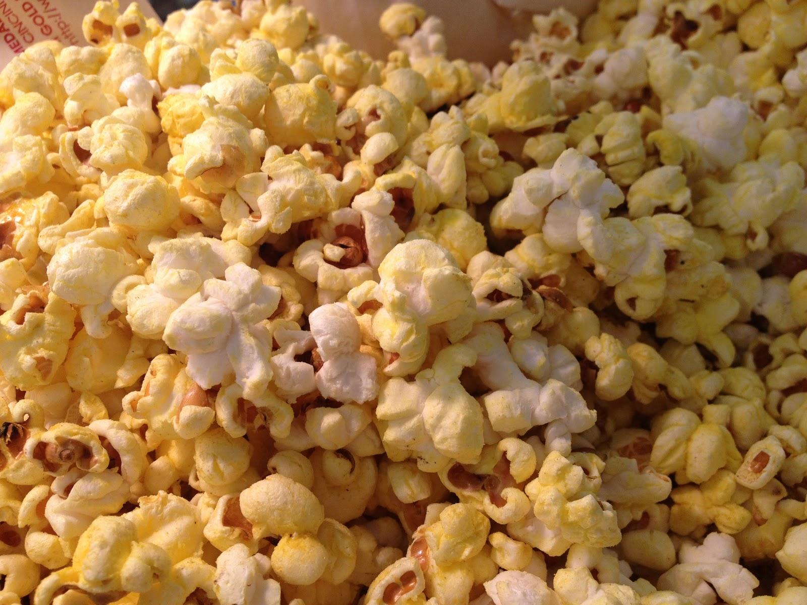 Popcorn Popping Freshly popped popcorn for