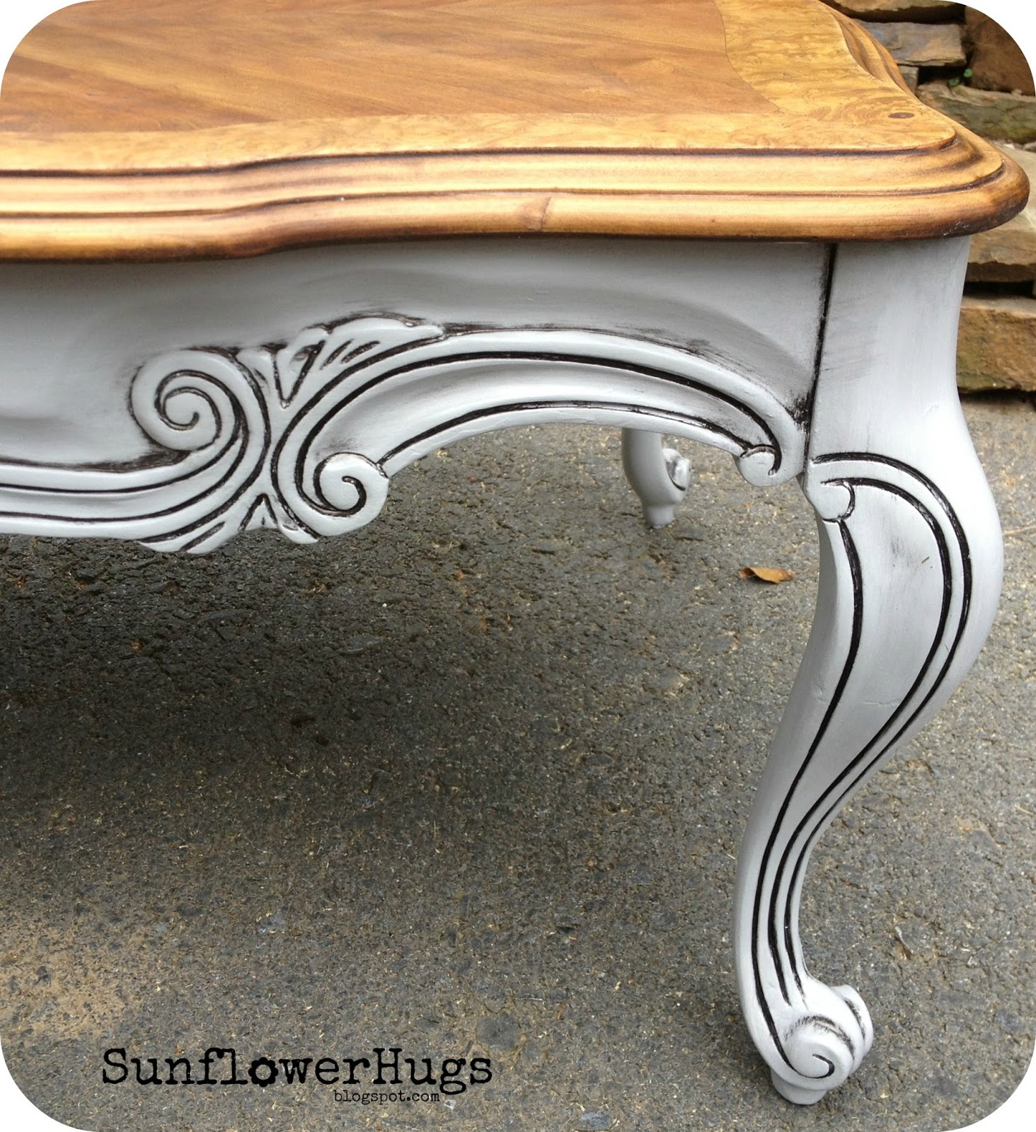 SunflowerHugs 5 Long French Country Coffee Table