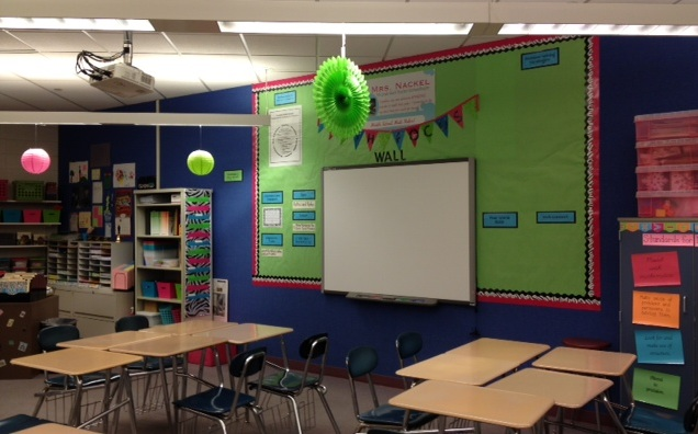 Math Focus Wall http://7thgrademathteacherextraordinaire.blogspot.com/2012/09/classroom-photos-part-i.html