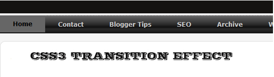 Add CSS3 Transition Effect To Drop Down Menu