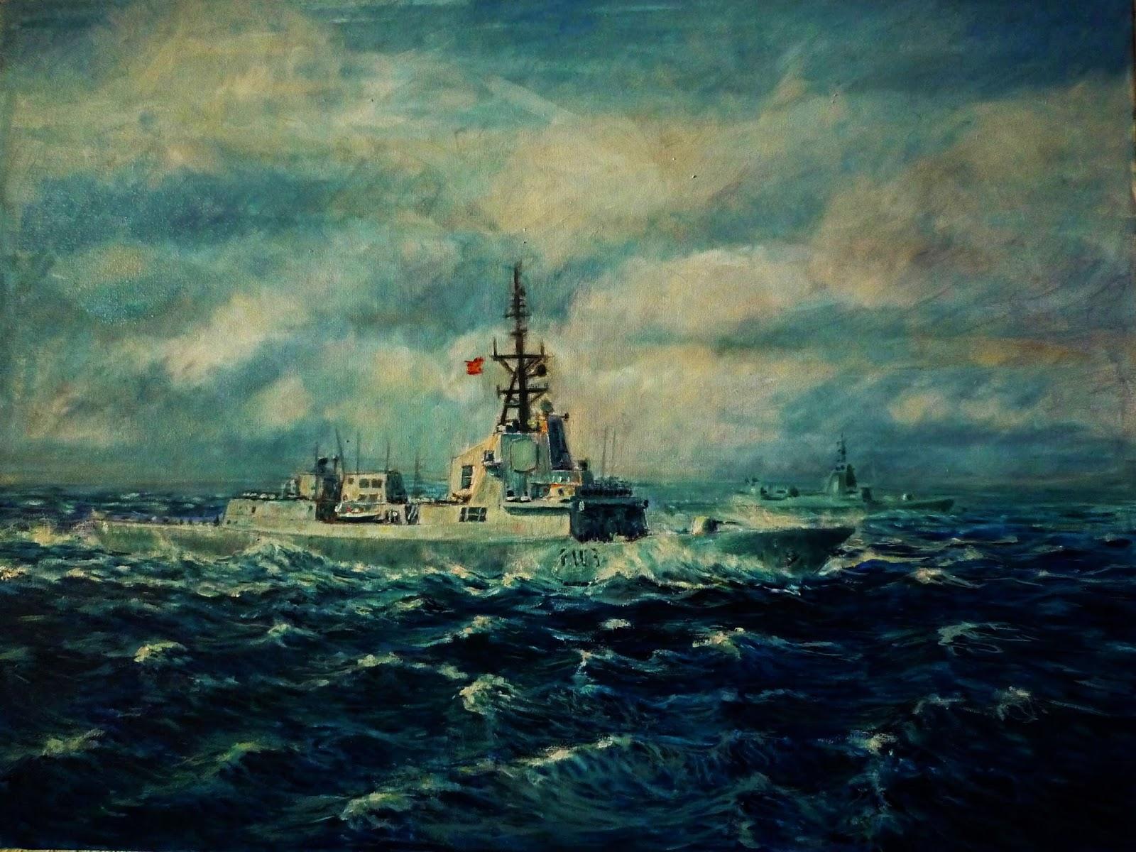 Oleo de la fragata Blas de Lezo de la Armada Española