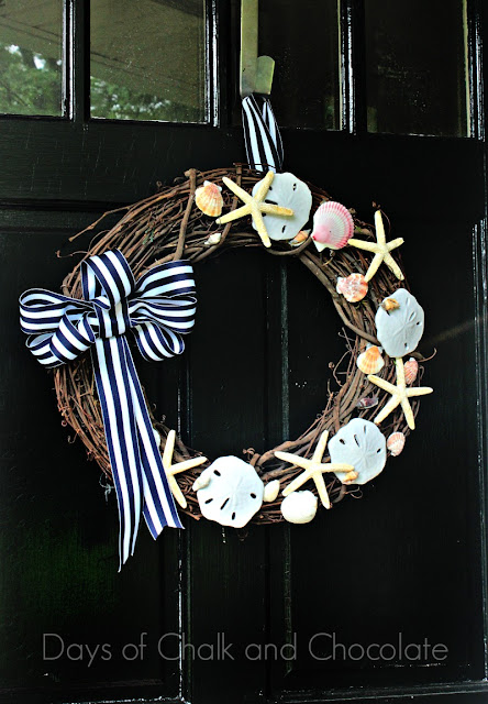 summer beach inspired wreath