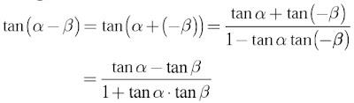 tan(α – β)
