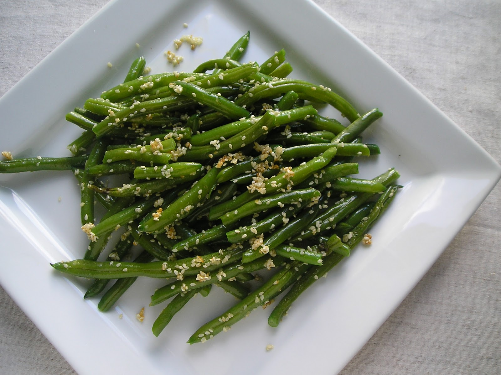 ... with sesame hoisin sauce garlicky green beans green beans with