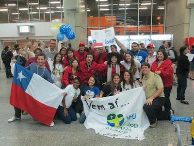 #JMJRio2013: Jovens missionários do Chile chegam ao RJ para a JMJ