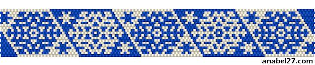 снежинки мозаика бисер схема кирпичное плетение snowflake peyote brick pattern