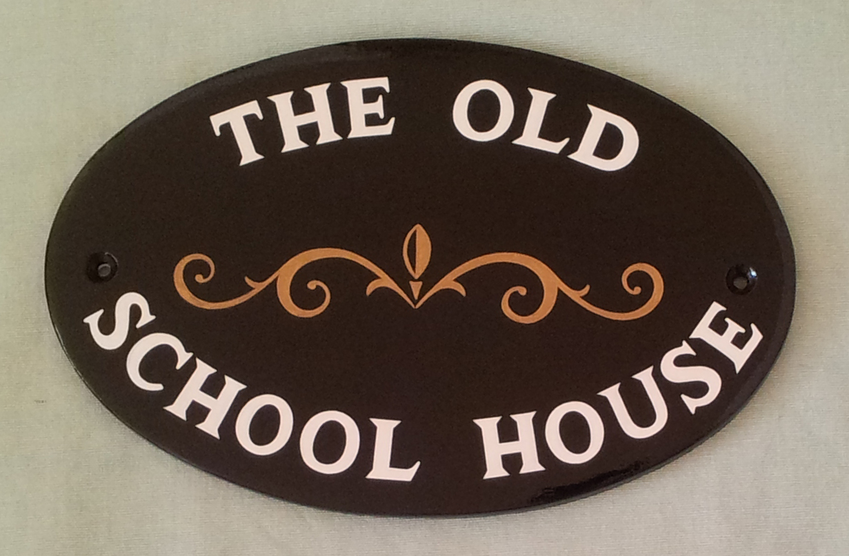 Hand painted house signs by ceramic art house signs with for Classic house names