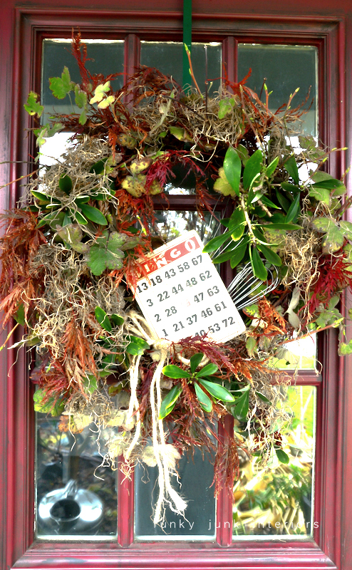 A natural leaf fall wreath.. straight off the tree. via Funky Junk Interiors