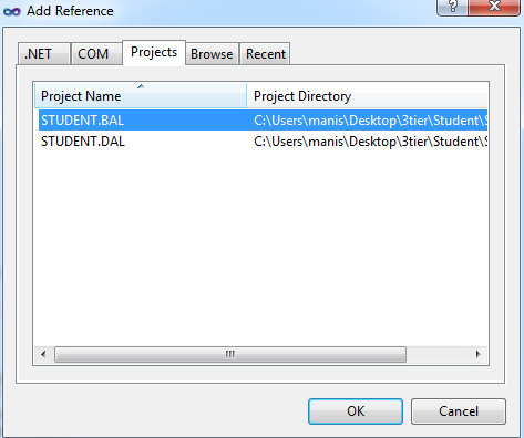 Adding project reference in visual studio