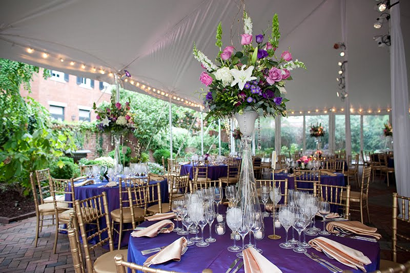 Here is the wonderful wedding reception in the tent of the Decatur House in