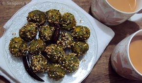 steamed lentil dumplings with lots of greens, call them muthia or whatever you like...