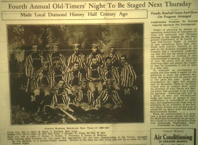 Brookline Chronicle article previewing 1939 Old-Timers' Night