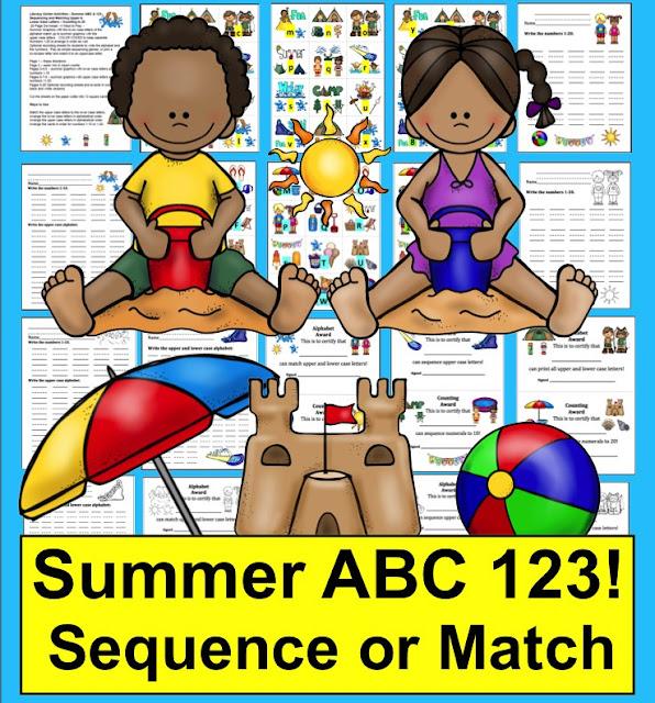 https://www.teacherspayteachers.com/Product/Summer-Literacy-Centers-Summer-Alphabet-Counting-Summer-School-244827
