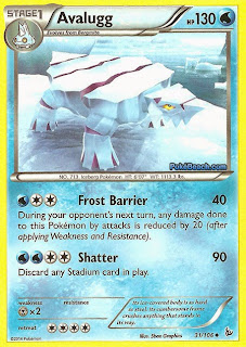 Avalugg Flashfire Pokemon Card