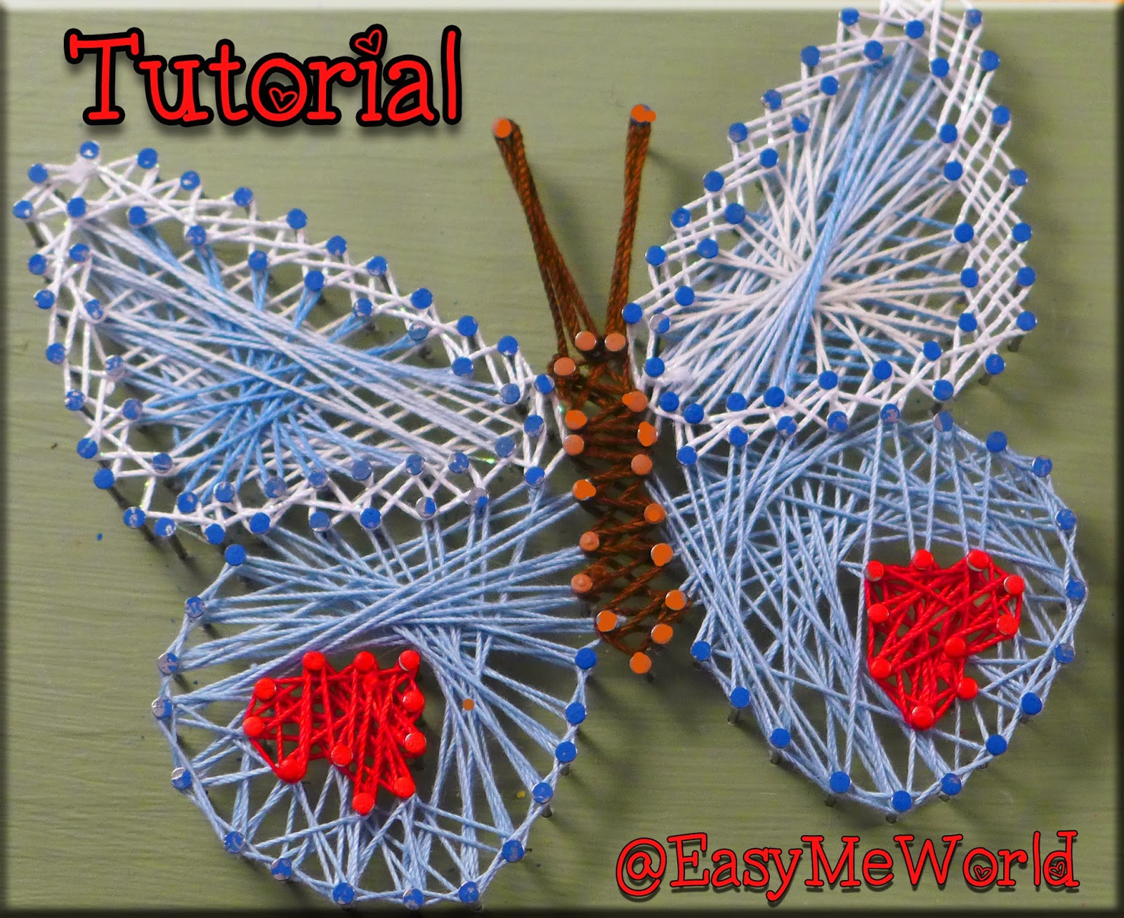 easymeworld string art tutorial an easy craft for kids. Black Bedroom Furniture Sets. Home Design Ideas