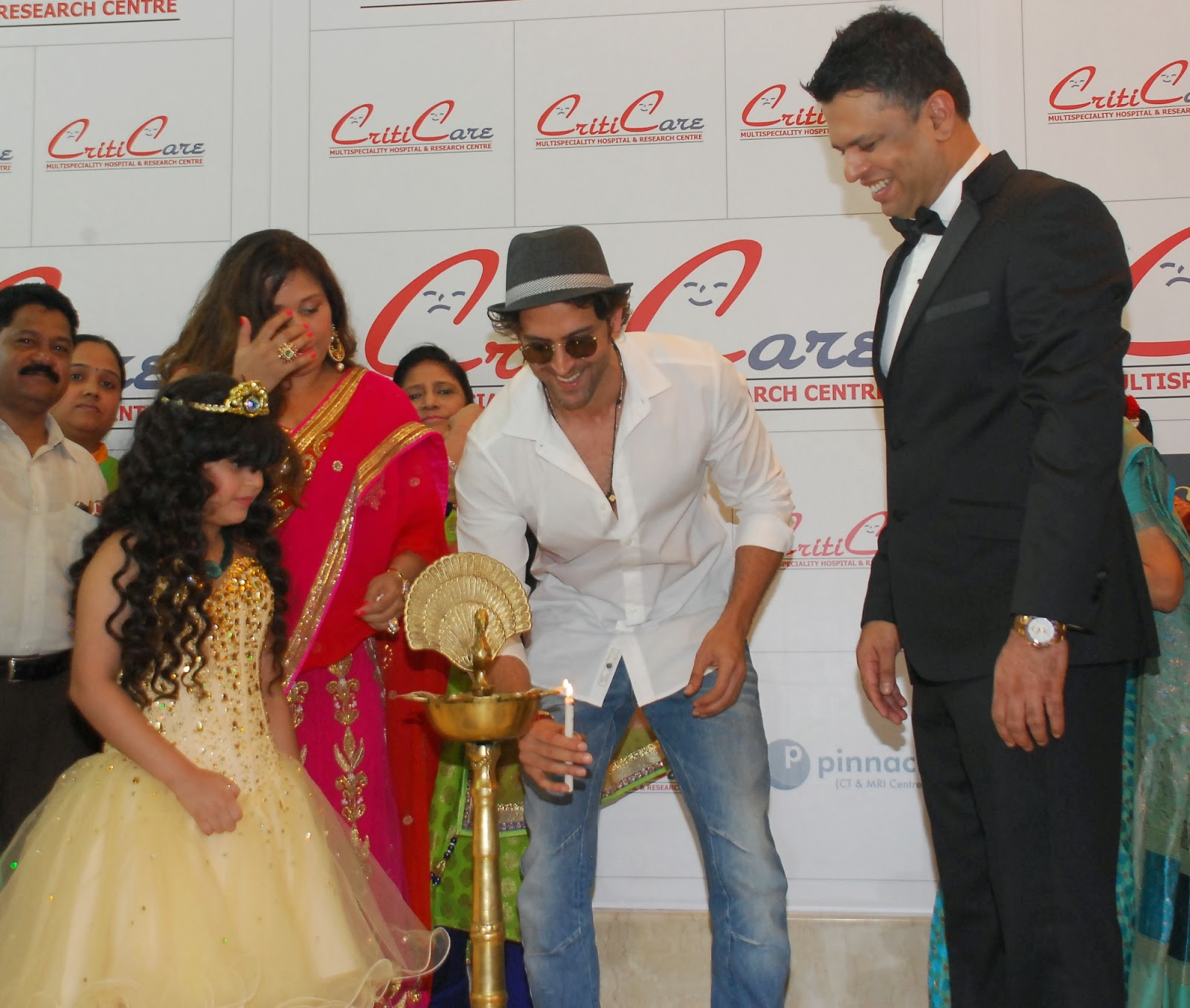 Anil Kapoor,Hrithik at Criticare Hospital New Branch Launch