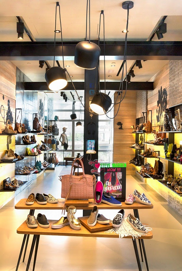 f7a4c34a74fe Steve Madden opens Asia s first digitized flagship at ifc mall in Hong Kong  recently. With pop of creative surprises and colors in store