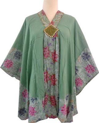 Model Kaftan Baju Batik Atasan Terbaru 2016