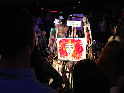 art battle 66, art batte, the great hall, art battle toronto, malinda prudhomme, beauty art, red girl, art competition, speed painting, 20 min speed painting competition, toronto artists
