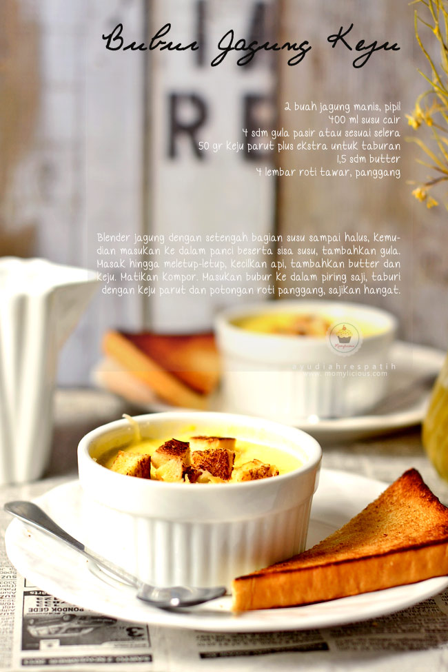 Resep Bubur Jagung & Roti Panggang