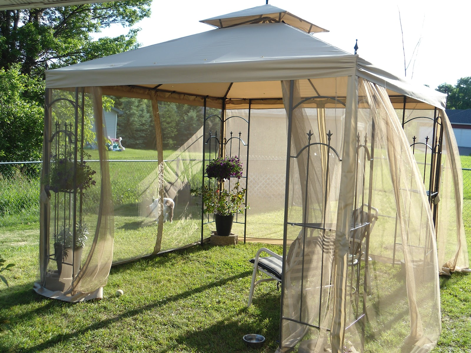 Gazebo curtains outdoor - Living Large With A Canopy Or A Gazebo And Lemonade For Fifty Cents