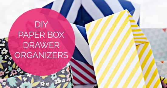 """DIY Paper Box Drawer Organizers and an Organized """"Everything"""" Drawer"""